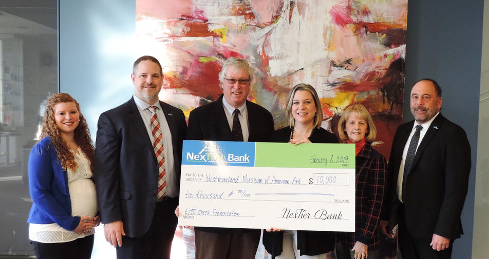 NexTier Team presenting donation check to the Westmoreland Museum of American Art