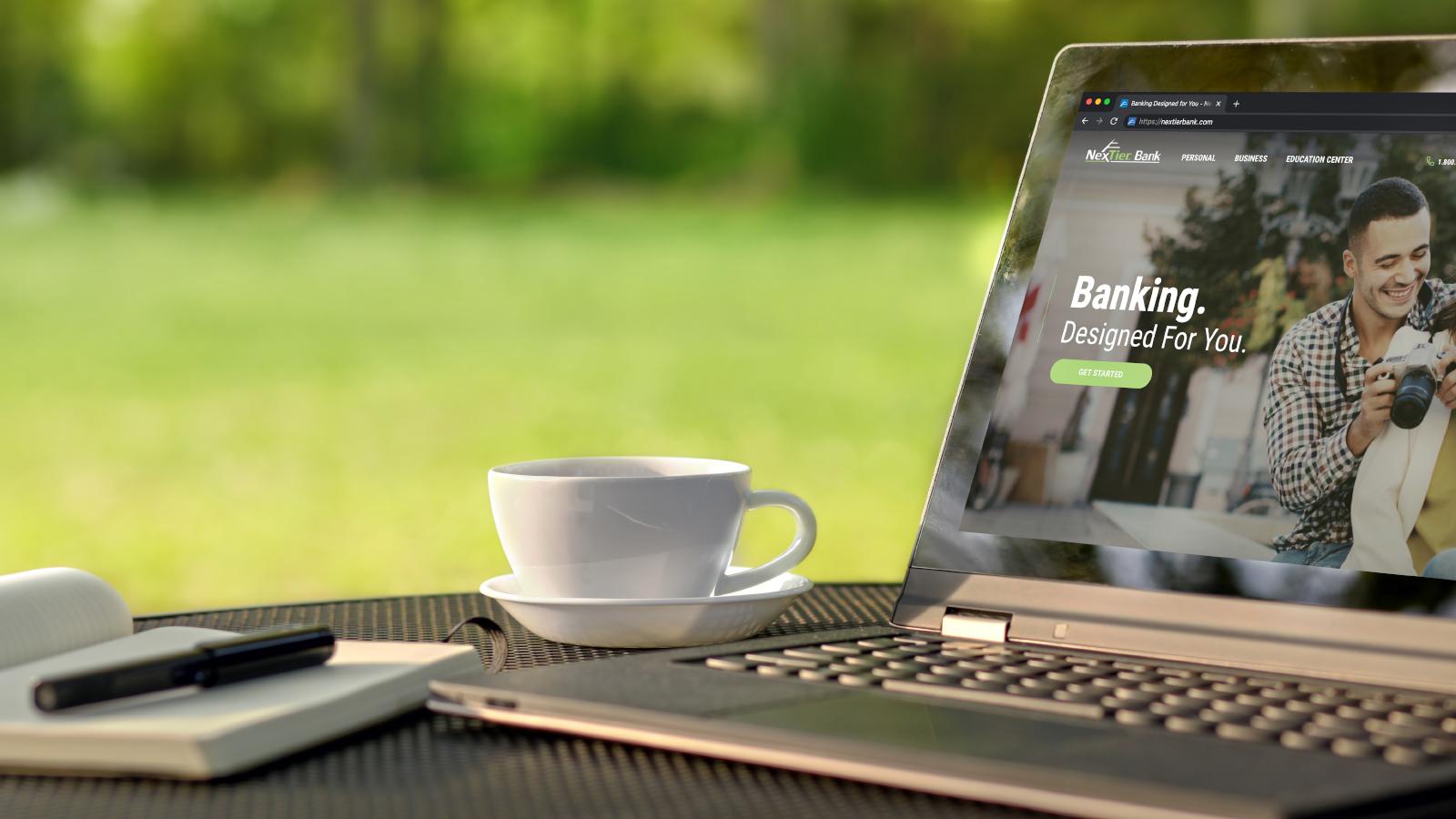 www.nextierbank.com is open on laptop screen