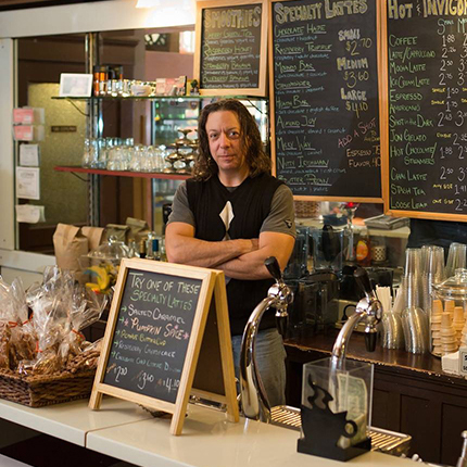Barry Cummings, owner of Cummings Coffee & Candy