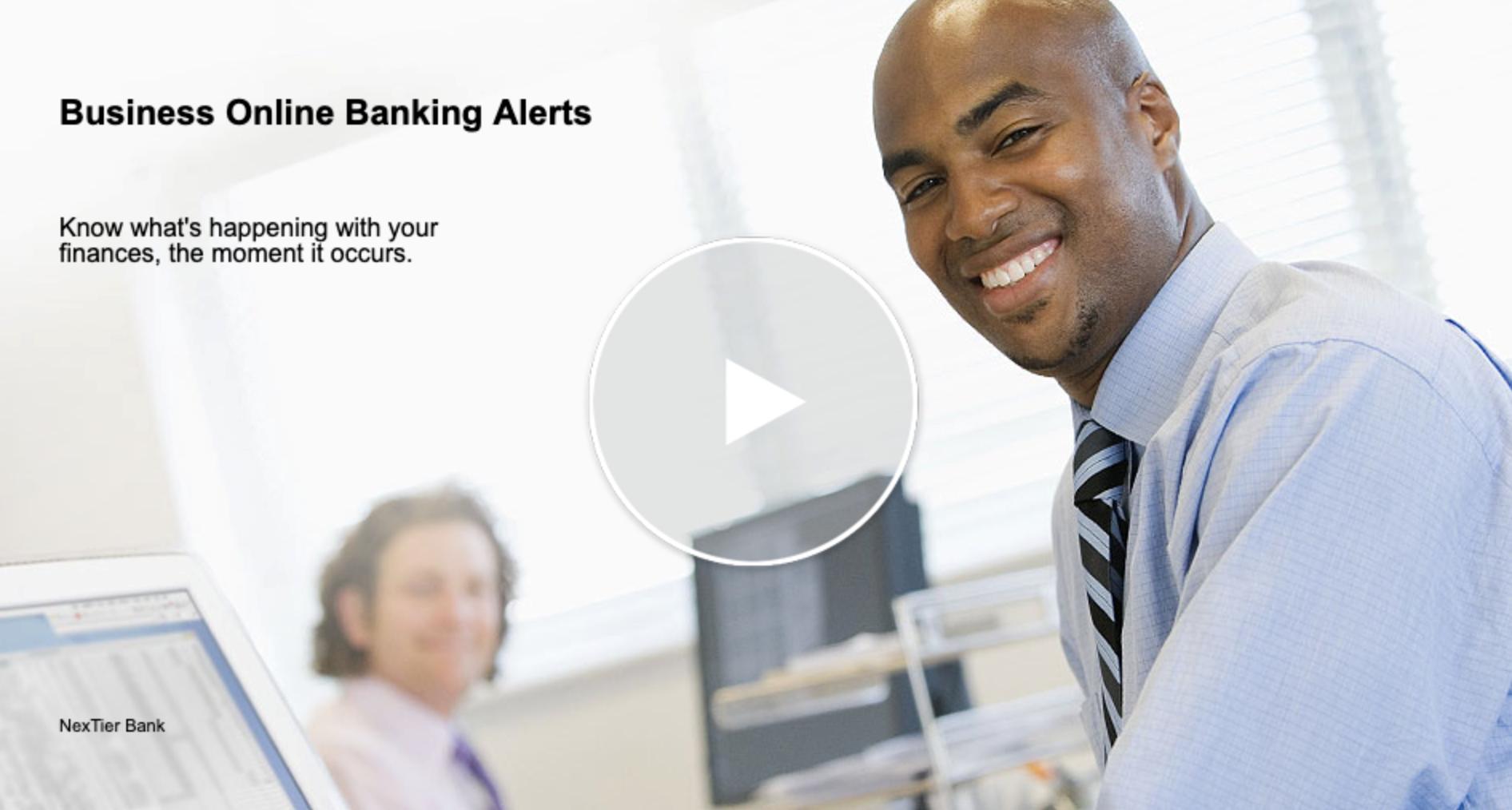 Business Online Banking Alerts